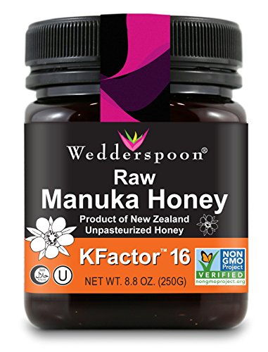 Wedderspoon 100% Raw Premium Manuka Honey KFactor 16+, 8.8 Ounce (Quality Rating Material)