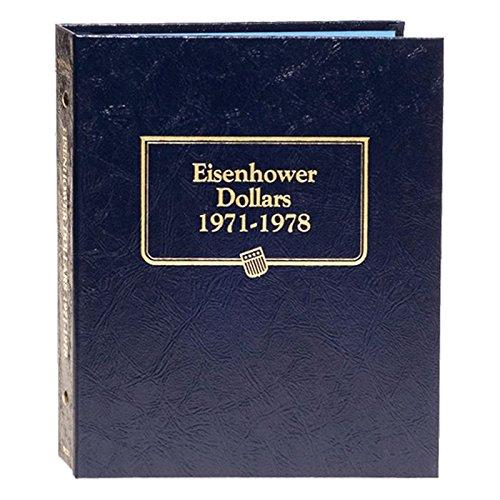 Whitman US Eisenhower Dollar Coin Album 1971 - 1978 #9131