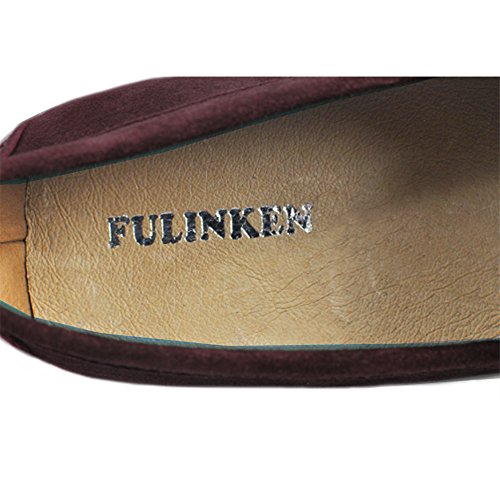 Men's Moccasin Fulinken Shoes Shoes Leather Suede Slip on Loafers Brown Driving Casual rRtwtEnqxO