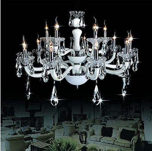 Chandelier Crystal Eighteen Light - GOWE Modern 18 25W E14 Bulbs D70 X H150CM Crystal candle Chandelier Pendant Lamp suspension Light lighting 110V/ 220V
