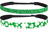 Hipsy Women's Non-Slip Headband St. Patrick's Day 2pk Adjustable Irish Green