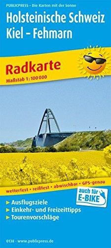 Holsteinische Schweiz, Kiel - Fehmarn: Radkarte mit Ausflugszielen, Einkehr- & Freizeittipps, wetterfest, reissfest, abwischbar, GPS-genau. 1:100000 (Radkarte / RK)