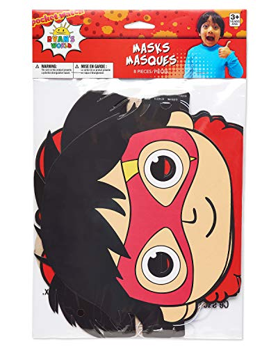 American Greetings Ryan's World Party Supplies, Masks (8-Count)