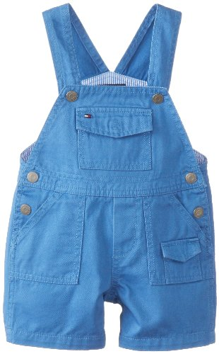 Tommy Hilfiger Baby-Boys Infant Gavin Twill Shortall, Blue Finn, 12 Months