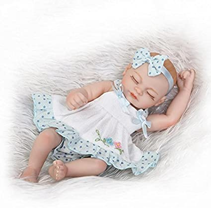 "10/"" Cute Full Silicone Girl Reborn Baby Doll Lifelike Handmade Waterproof Dolls"