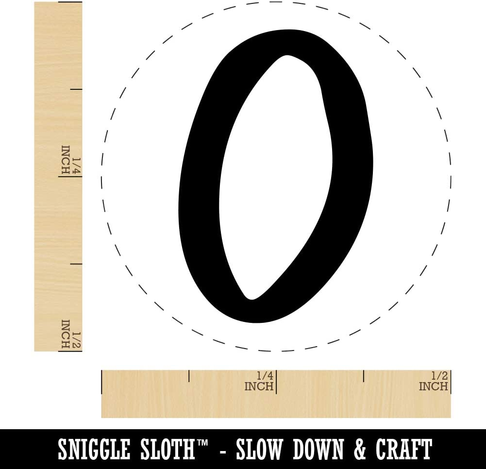 Felt Marker Font Letters and Numbers Rubber Stamp for Stamping Crafting Planners Letter M 3//4 Inch Small