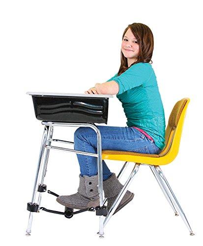 School Specialty FF1919 Attachable Foot Fidget Footrest, Black