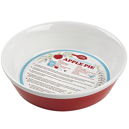 Betty Crocker 28619 Ceramic Pie Plate, Red Betty Crocker Pans