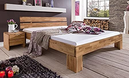 Lena Doppelbett Bett 180 X 200 Eiche Wildeiche Massiv Geölt Amazon