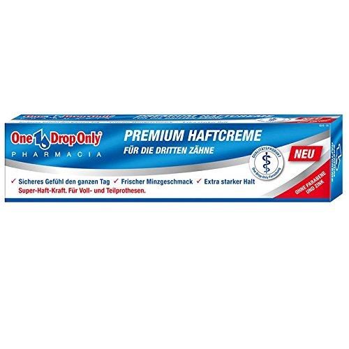One Drop Only Premium Haftcreme 40g, 3er Pack (3x 40g)