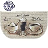 Coffee Themed Kitchen Rugs Mainstays Coffee Flavors Printed Slice Kitchen