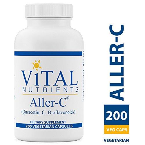 Vital Nutrients - Aller-C (Quercetin, Vitamin C, and Bioflavonoids) - Respiratory & Sinus Support - Gluten Free - 200 Vegetarian Capsules per Bottle