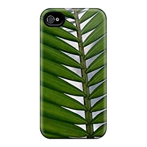 Premium EdidDLN1706OOQFc Case With Scratch-resistant/ Palm Frond Case Cover For Iphone 4/4s