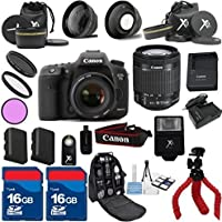 Canon 7D Mark II Camera Body with 18-55mm IS STM Premium Bundle with Deluxe Backpack + 24pc Kit - International Version