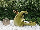 Fairy Garden Figurine Miniature Dollhouse FAIRY GARDEN ~ Green Dragon Playing with Ladybug ~ NEW