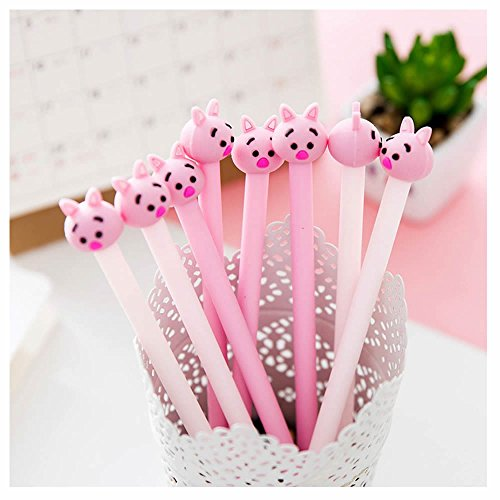 - GOOTRADES 8 Pack Cute Pig Writing Gel Ink Pen for Office School Student ,0.38 mm Tip