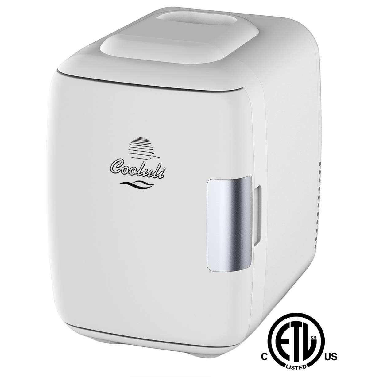 ویکالا · خرید  اصل اورجینال · خرید از آمازون · Cooluli Mini Fridge Electric Cooler and Warmer (4 Liter / 6 Can): AC/DC Portable Thermoelectric System w/ Exclusive On the Go USB Power Bank Option (White) wekala · ویکالا