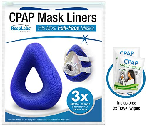 - RespLabs Full Face CPAP Mask Liners - [3 Pack] Reusable, Universal, and Super Comfortable.