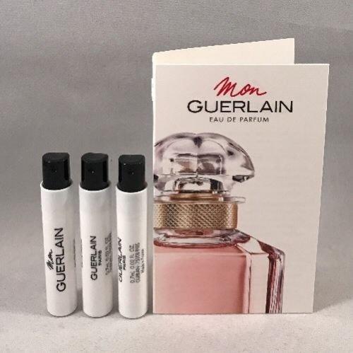 (3 Guerlain Mon Eau de parfum Spray Sample Women Vial 0.02 oz/0.7 ml)