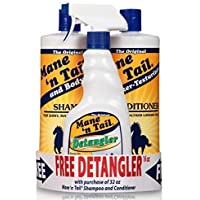 Mane 'n Tail 3 Pc Kit Includes 32 Ounce Mane 'n Tail Shampoo/ 32 Ounce Mane 'n Tail Conditioner/ Detangler 16 Ounce