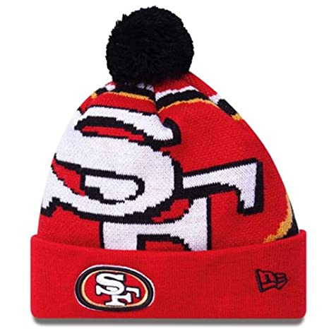 the latest 83570 c6408 Image Unavailable. Image not available for. Color  Men s New Era San  Francisco 49ers Woven Biggie Knit Hat ...