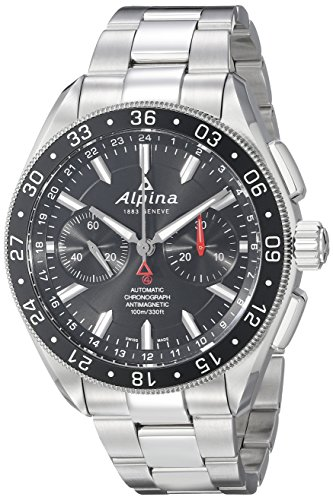 Alpina Men's AL-860B5AQ6B Alpiner 4 Chronograph Analog Display Automatic Self Wind Silver Watch
