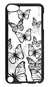 Brian114 Case, iPod Touch 5 Case, iPod Touch 5th Case Cover, Butterfly 4 Retro Protective Hard PC Back Case for iPod Touch 5 ( Black ) Kimberly Kurzendoerfer