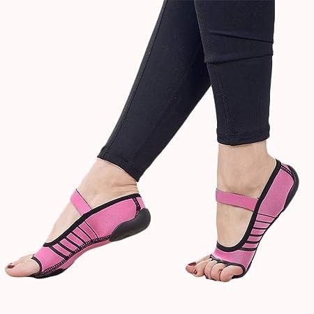 Zapatos de jazz Zapatos de yoga con punta abierta para mujer ...