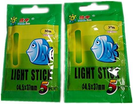 FENGLI Night Fishing Fish Glow Sticks Mini Glow Sticks Fishing Float Light Up Glow Toys Compact Emergency Glow Light Sticks