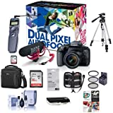 Canon EOS Rebel T7i DSLR Video Creator Kit EF-S 18-55mm IS Lens, Rode VideoMic Go, 32GB SD Card - Bundle Camera Case, 58mm Filter Kit, Remote Shutter Trigger, Software Package More
