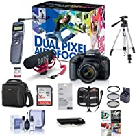 Canon EOS Rebel T7i DSLR Video Creator Kit with EF-S 18-55mm IS Lens, Rode VideoMic Go, 32GB SD Card - Bundle With Camera Case, 58mm Filter Kit, Remote Shutter Trigger, Software Package, And More