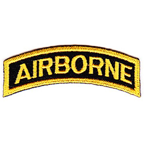 - Army Airborne Rocker Gold Letters Patch