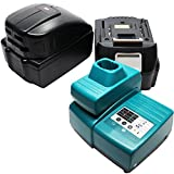 2 Replacement Makita BDA350 Battery, 1 Charger & 1 USB Power Source - For Makita 18V Lithium-Ion Power Tool Battery (3000mAh, Lithium-Ion)