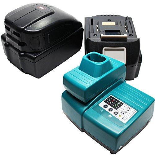 2 Replacement Makita BTD140 Battery, 1 Charger & 1 USB Power Source - For Makita 18V Lithium-Ion Power Tool Battery (3000mAh, Lithium-Ion)