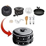 Camping Cookware Mess Kit , camp stove, Backpacking Gear...