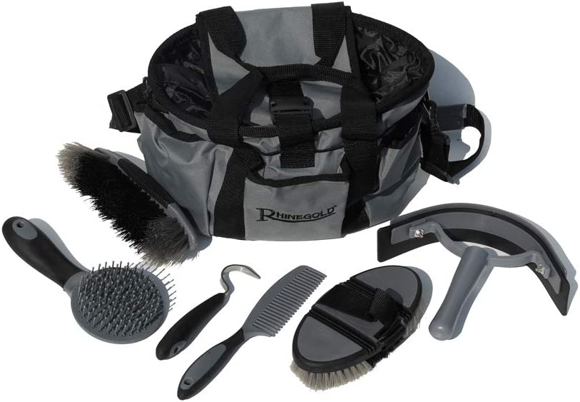 Rhinegold Grooming Bag with Kit Blue