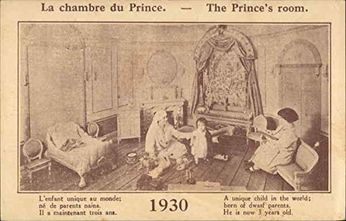 The Prince's Room, 1930, The New Midget's Playroom Little People Dwarfs Original Vintage Postcard from CardCow Vintage Postcards
