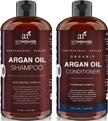 Art Naturals Arganöl Shampoo & Conditioner Set je 473 ml, Komplette Pflege für jeden Haartyp | Ideal für Trockenes, Geschädigtes & Gefärbtes Haar | Natürlicher Feuchtigkeitsspender | Verleiht Volumen | Sulfat-frei