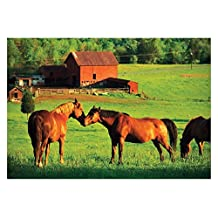 Melissa & Doug Kissing Horses With Barn Jigsaw Puzzle, 200-Piece