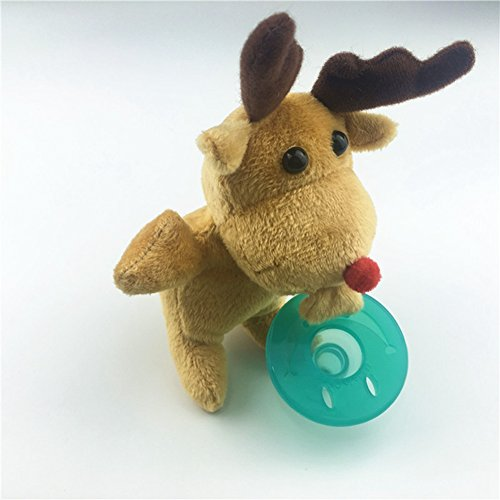 Lanlan 1PCS Cute Silicone Pacifier Plush Animal Toy Stuffed Figure