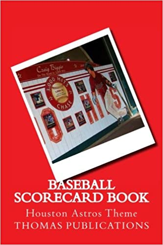 baseball scorecard book houston astros theme thomas publications