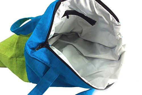 Rainbow Handlooms rhtbos04–A Mano A Mano Tessuto Di Cotone spesso borse shopper 2colori