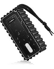 BassPal Bluetooth 5.0 Lautsprecher, wasserdichter tragbarer IPX7-Lautsprecher mit Radio, 10W Stereo-Sound und Mikrofon, kabelloser Lautsprecher für die Dusche Pool Party Home & Outdoors