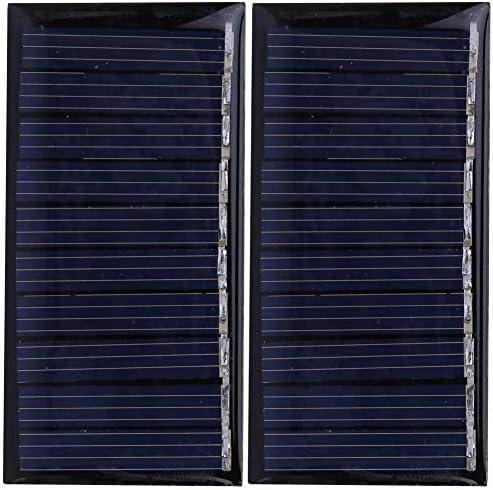 Dgtrhted 50MA 5V Mini Sonnenkollektor-Ladegerät Polykristalline Silizium Außenladestromversorgung