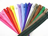 FNFA 100pcs Mix Color Nylon Coil Zippers Tailor Sewing Tools Garment Accessories 9 Inch