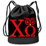 HFTIDBC Chi Omega Owl Sorority College Pumping Rope Bag Sackpack