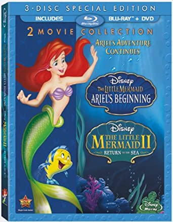 amazon com the little mermaid ii and ariel s beginning 2 movie