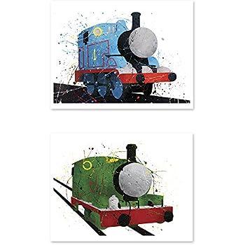 Amazon.com: Thomas and Friends Watercolor Train Prints - Set of ...