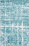 Unique Loom Uptown Collection by Jill Zarin Collection Textured Modern Turquoise Area Rug (5' 0 x 8' 0)