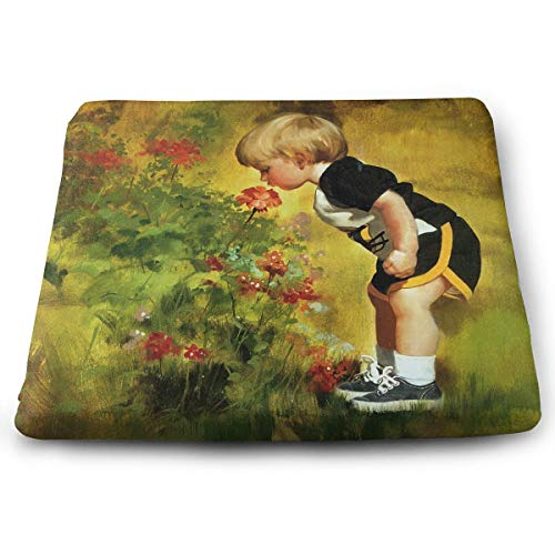 Comfortable Seat Cushion Chair Pad Cute Baby and Flower Painting Perfect Memory Foam Cushions Lighten The -
